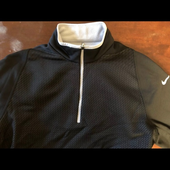 Nike Golf Therma Fit 14 Zip Pullover Large Black
